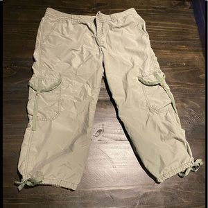 Tommy jeans army green capris